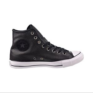 Converse all star leather high top shoes EUC